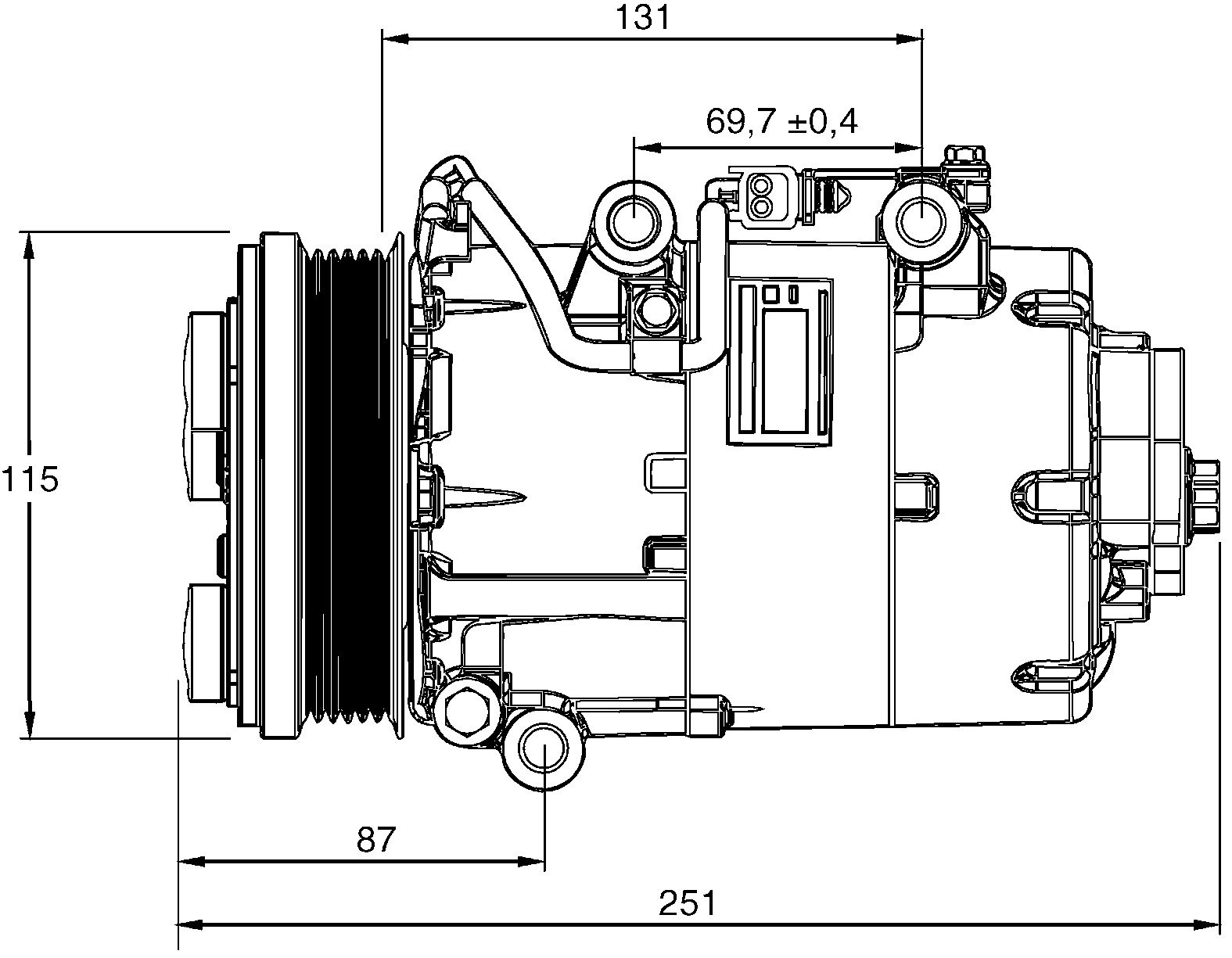 hella air con compressor 8fk351113