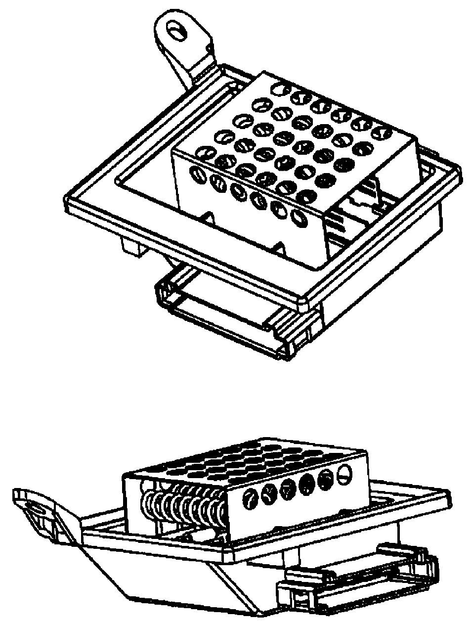 Heater Blower Resistor Rear 9ML351332-211 Hella Regulator Rheostat 0018358806