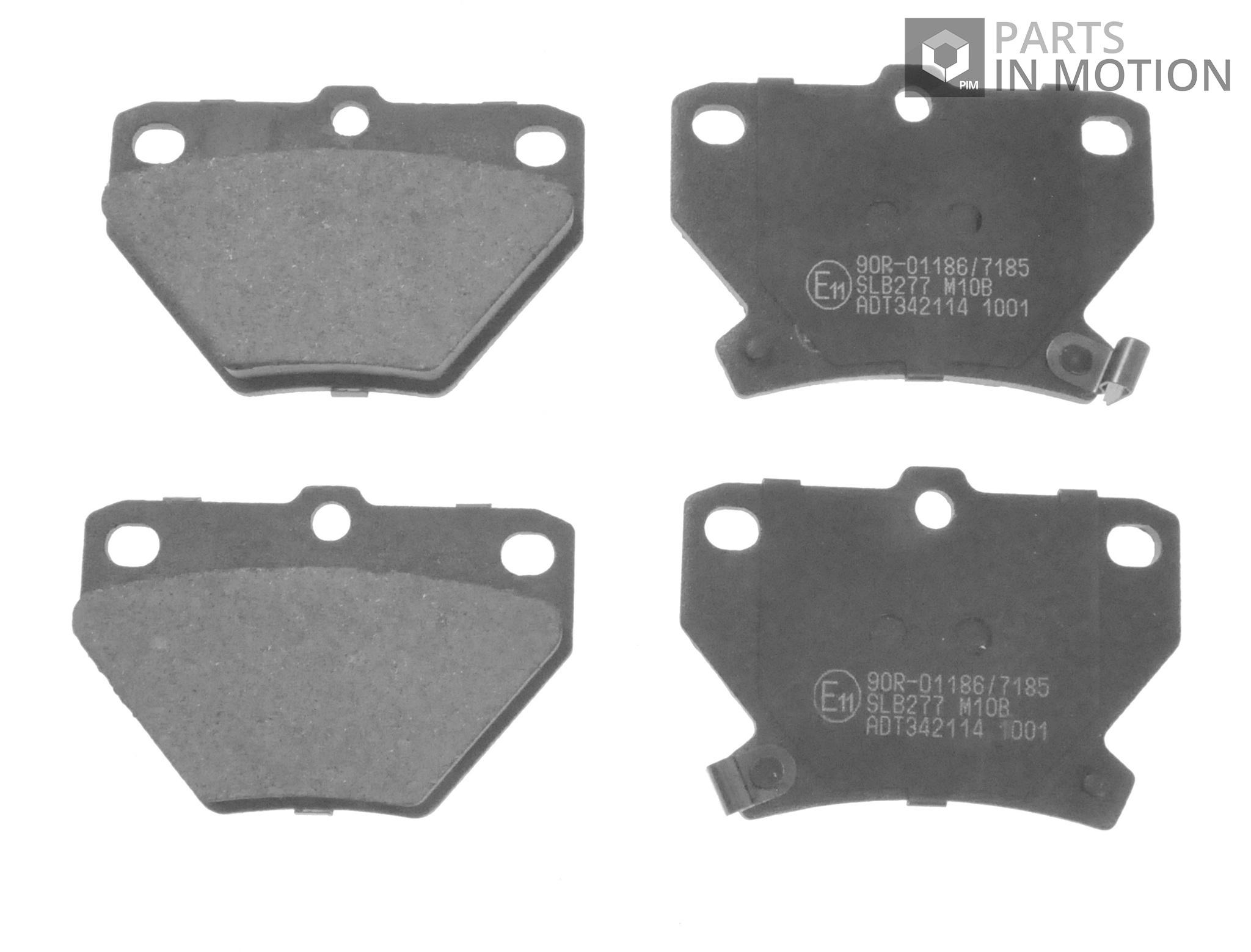 Toyota Prius NHW20 1.5 Genuine Fahren Rear Brake Pads Set
