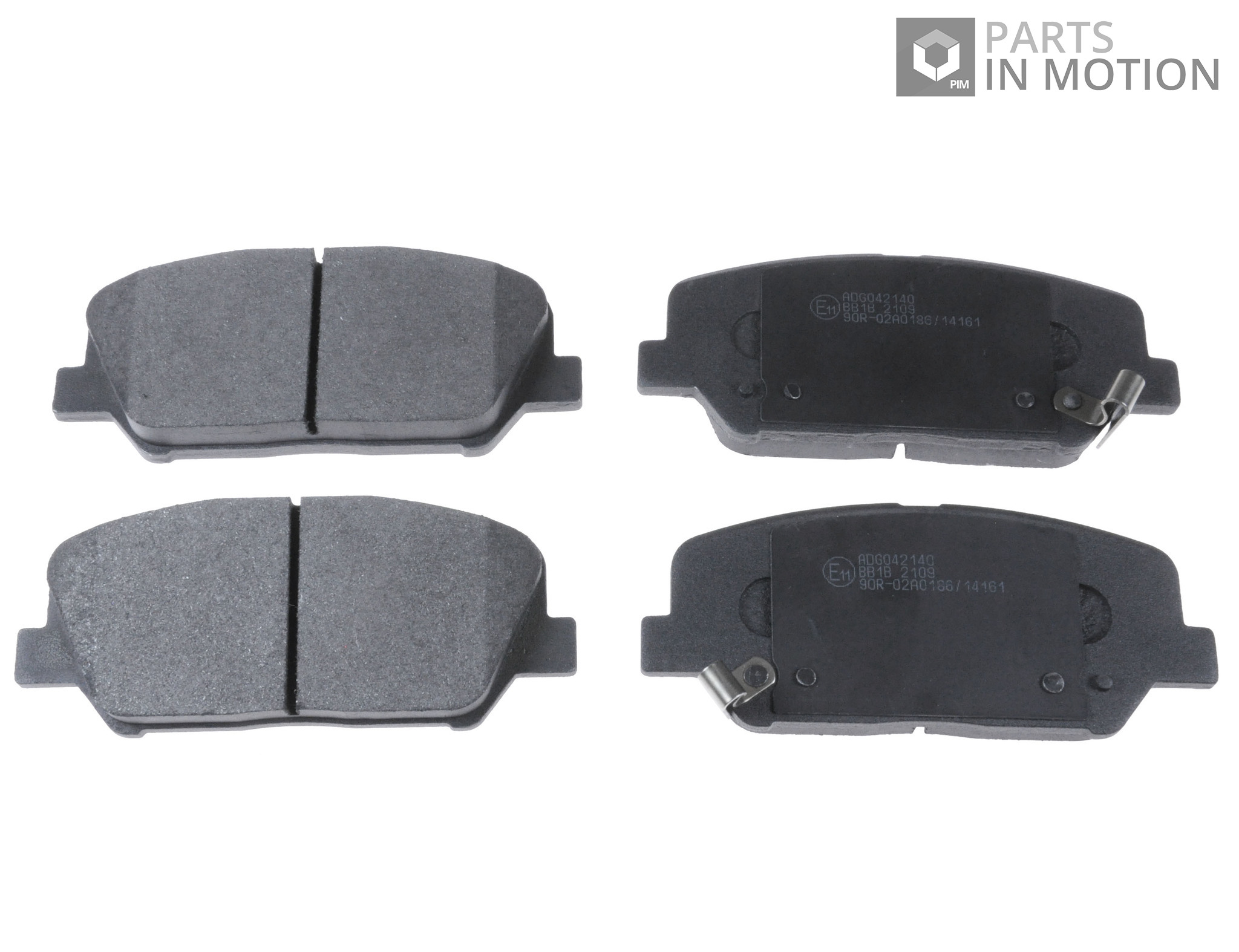 brake pads set fits kia optima 1 7d front 2012 on d4fd l. Black Bedroom Furniture Sets. Home Design Ideas