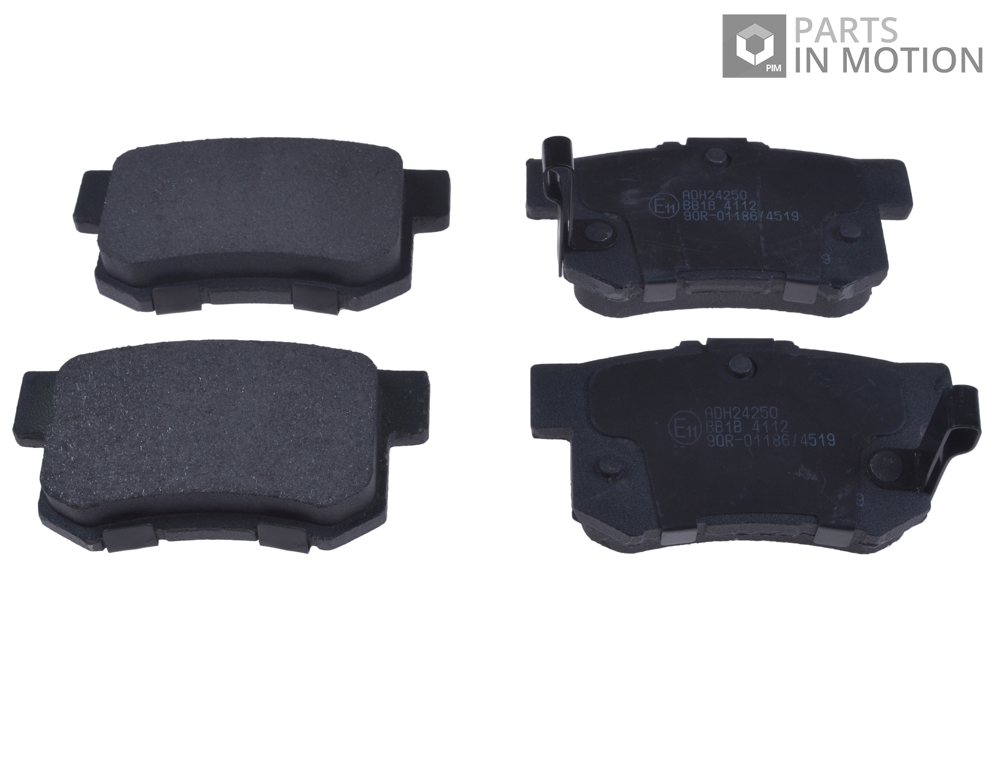 brake pads set fits honda civic rear 97 to 12 adh24250 blue print 06430s0aj00 ebay. Black Bedroom Furniture Sets. Home Design Ideas