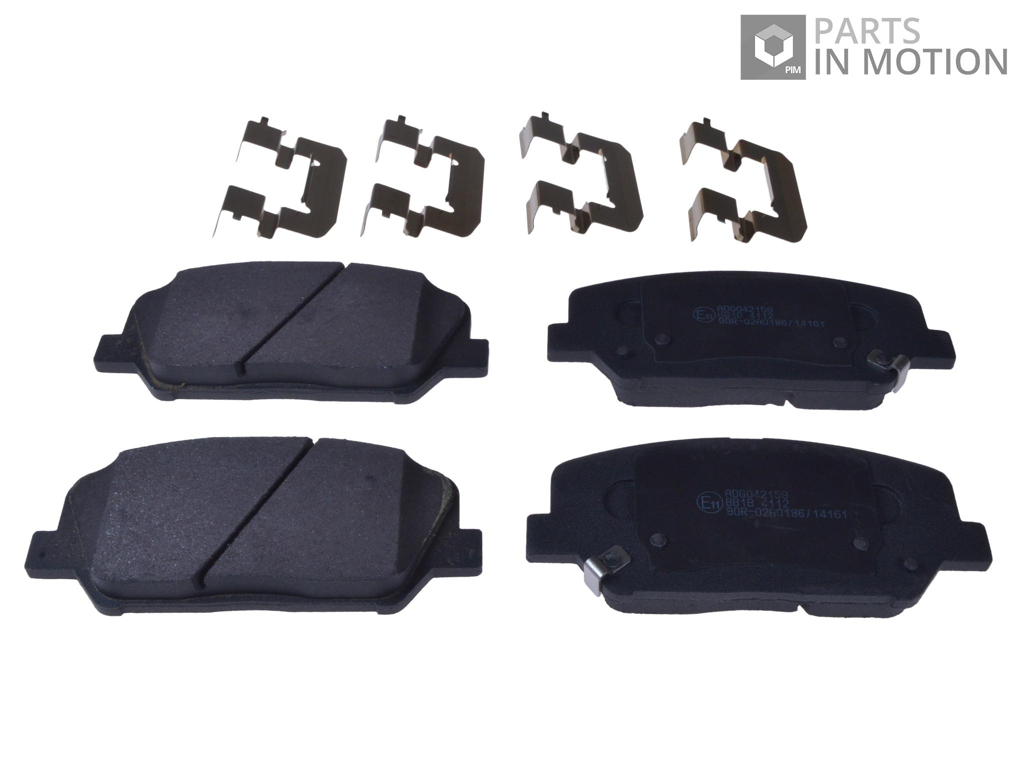 Fits Kia Cee/'D 1.6 GT Genuine OE Quality Apec Rear Brake Pad Fitting Kit