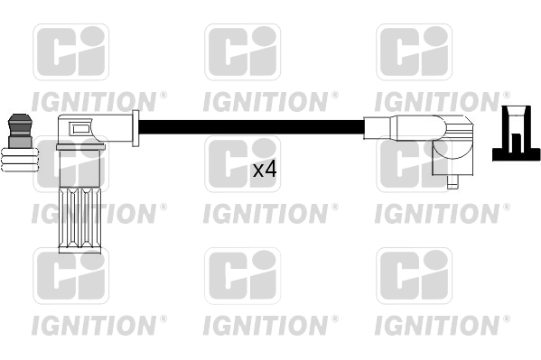 Fits Hyundai Lantra MK2 1.6i Genuine Cambiare Ignition Cable HT Lead Kit