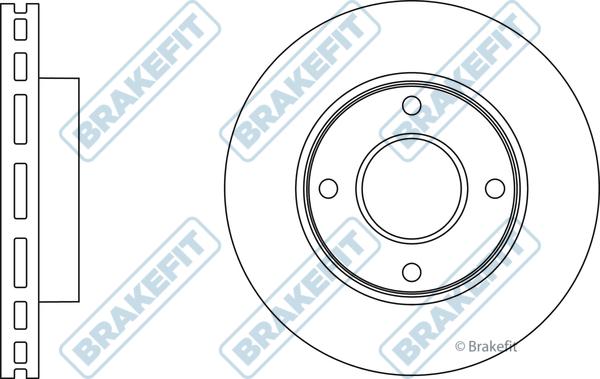 Front Borg /& Beck BBD5214 Brake Disc Pair
