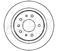 SAAB 9-3 YS3F 2.0 2x Brake Discs (Pair) Solid Rear 02 to 15 278mm Set KeyParts