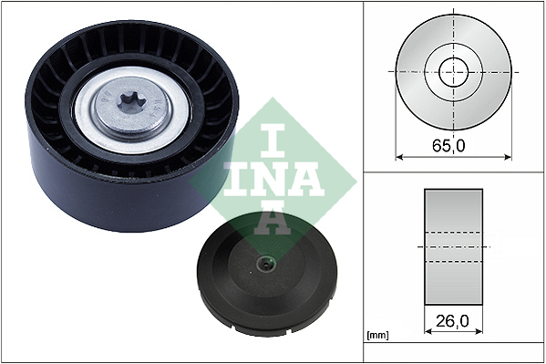 RW 1.6 Aux Belt Idler Pulley 2009 on Guide Deflection INA New CITROEN C5 RD