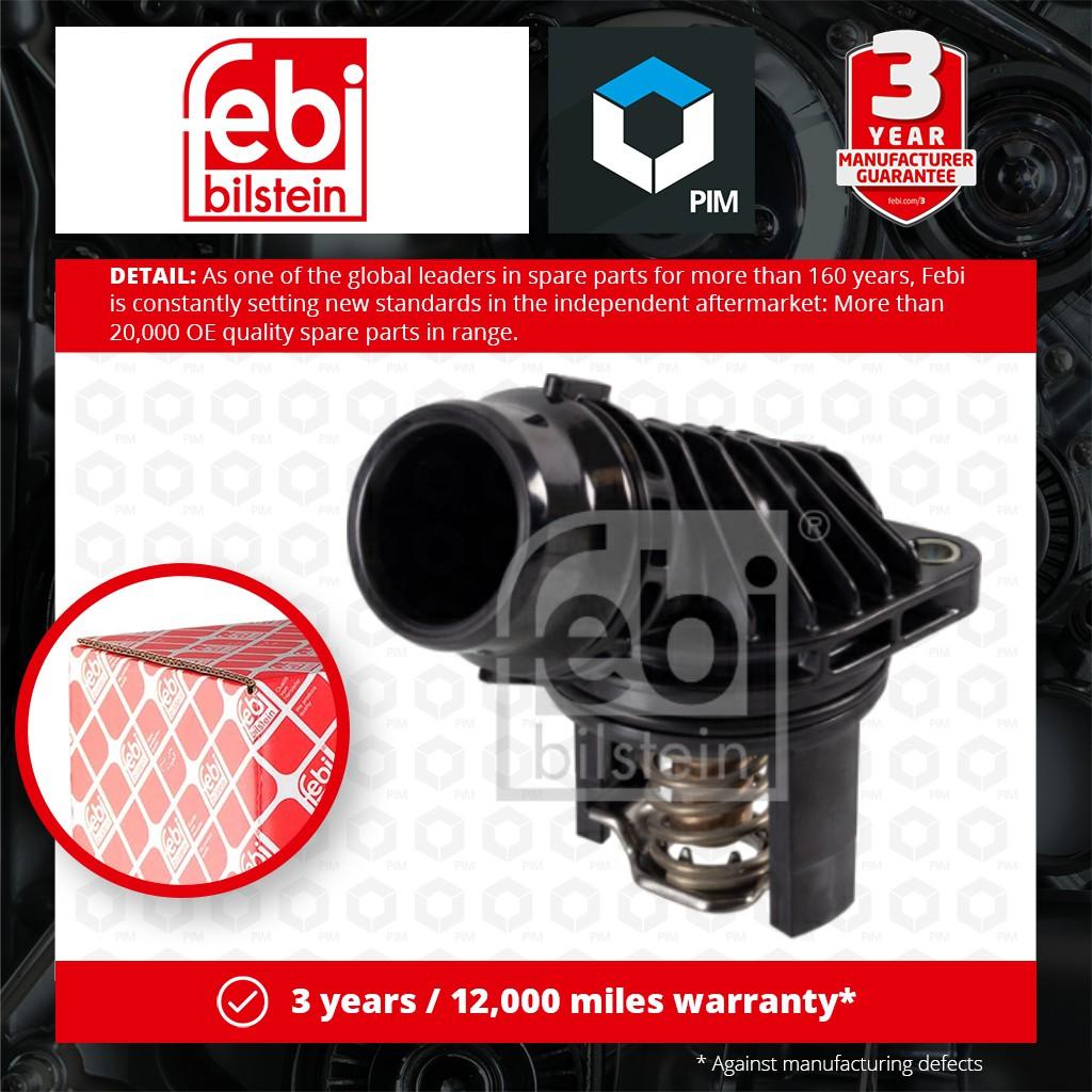 Coolant Thermostat fits VAUXHALL MERIVA B 1.6D 2014 on 055484533 1338438 Febi