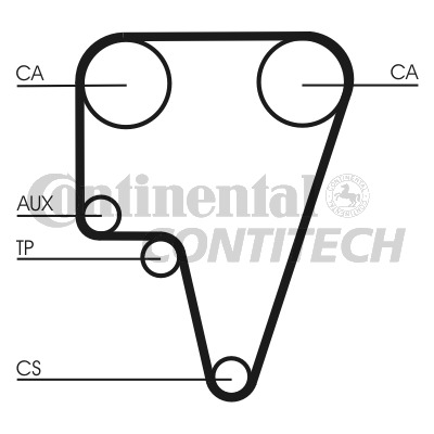 ALFA ROMEO 75 162B 2.5 Timing Belt 85 to 86 Contitech 119130310500 119130310501