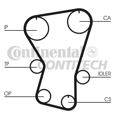 Fiat Uno 1 3d Timing Belt 83 To 92 Contitech 5952779 Genuine Quality