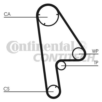 Timing-Belt-fits-HONDA-CRX-ED9-1-6-87-to-92-Contitech-14400P1KE01-14400PM6004