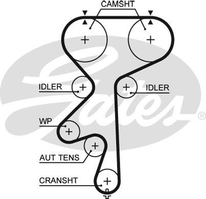 Chevrolet Astra 2 0 Timing Belt 99 To 02 X20xev Gates 55351782