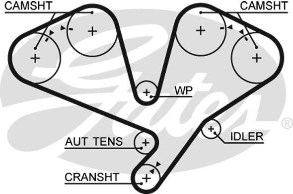 timing belt fits kia sorento mk1 3.5 02 to 11 g6cu gates 2431239800
