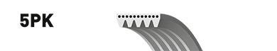 5 Rib Multi V Drive Belt 5PK1425 Gates 4451A129 865310855 Quality Replacement
