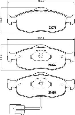 Brake Pads Set MDB1622 Mintex 1022079 1073732 1079348 1095202 1096940 Quality