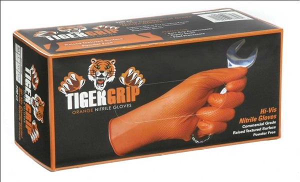 Tiger Grip Orange Gloves M X 100 EPP8843 Lucas Genuine Top Quality Product New