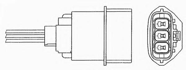 Lambda Sensor fits NISSAN PRIMERA P11 1.8 Pre Cat 99 to 00 QG18DE Oxygen NTK New