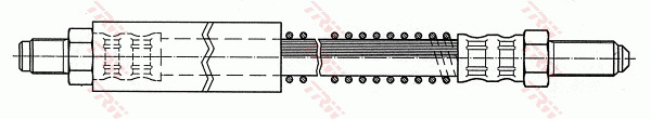 JAGUAR XKR X100 4.0 Brake Hose Front Left or Right 98 to 05 AJ27S Hydraulic TRW