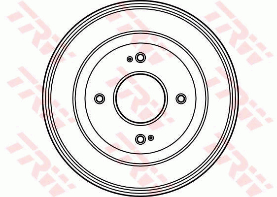 Brake Drum fits HONDA CIVIC EJ9 1.4 Rear 95 to 01 200mm TRW 42610SE0010 Quality