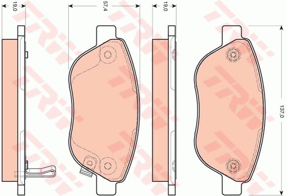 CITROEN DS5 2.0D Conjunto De Pastillas De Freno Delantero 11 a 15 1609987980 425477 Calidad Nueva B/&B