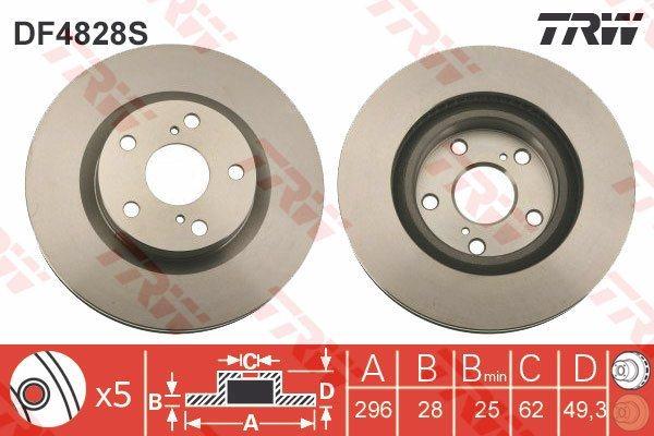 2x-Discos-De-Freno-Par-con-ventilacion-encaja-Toyota-Aurion-GSV50-3-5-frente-2011-en-2GR-FE