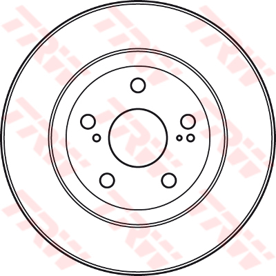 2x-Discos-De-Freno-Par-con-ventilacion-encaja-Toyota-Aurion-GSV50-3-5-frente-2011-en-2GR-FE miniatura 2