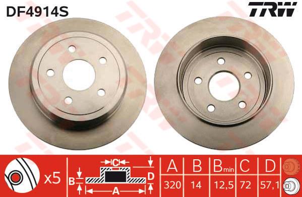 Rear Borg /& Beck BBD4556 Brake Disc Pair