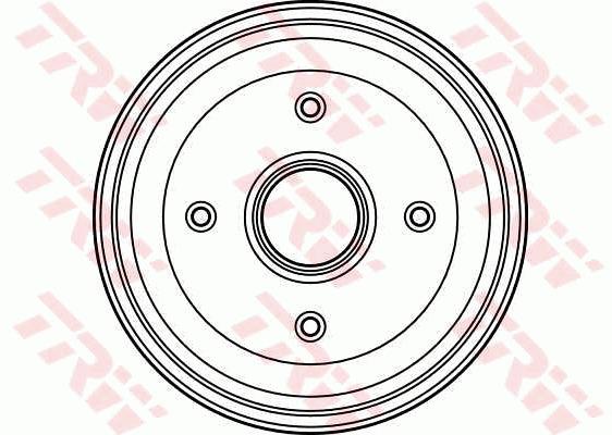 Pair Set 2x Brake Drums Rear 180mm DB4090 TRW 424727 424730 Quality New