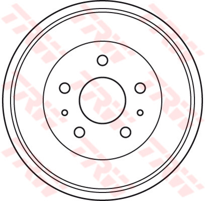 FORD-FOCUS-Mk2-Brake-Drum-Rear-1-6-1-6D-04-to-12-228mm-TRW-1458826-3M511126AC