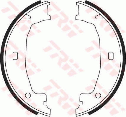 Handbrake-Shoes-Set-fits-BMW-420-F32-F33-F36-2-0-2-0D-2013-on-1615572RMP-TRW thumbnail 2