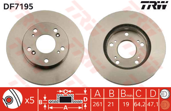 Vented fits HONDA CIVIC Mk7 1.7D Front 02 to 05 148629RMP 2x Brake Discs Pair