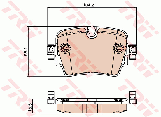 JAGUAR F TYPE X152 3.0 Brake Pads Set Rear 2012 on 306PS TRW Quality Replacement
