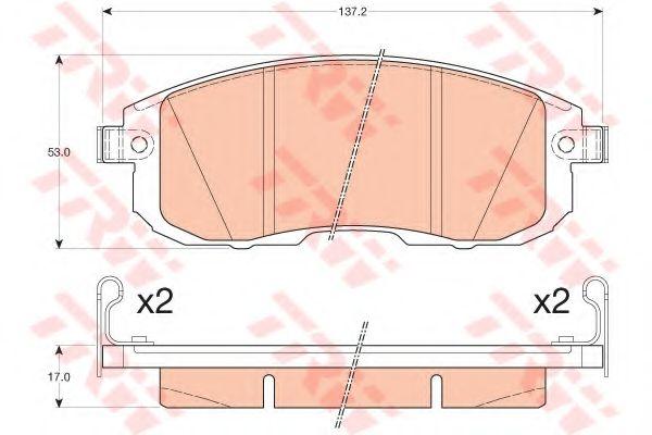 PASTIGLIE dei freni Set Si Adatta Nissan Juke F15 1.5D ANTERIORE 2010 su B/&B 10602Y090 410600V090