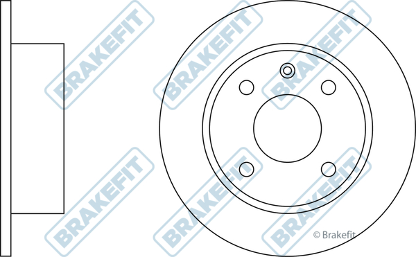 Brake Disc Pair Front for FORD ESCORT MK 4 from 1986 to 1990 Borg /& Beck
