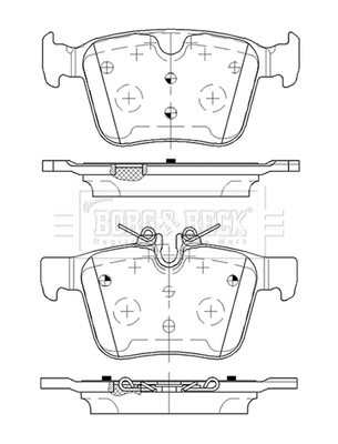 Range Rover Evoque L538 2 0d Brake Pads Set Rear 2015 On 204dtd Bb