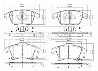 Ate - Teves Borg /& Beck BBP1001 Front Brake Pads