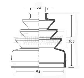 Inner FIRSTLINE FCB2429 CV JOINT BOOT KIT for Citroen Fiat Talbot