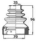 Driveshaft B/&B CITROEN DS4 CV Joint Boot Kit Front Inner 1.6 1.6D 11 to 15 C.V