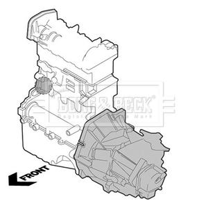 Peugeot-607-3-0-montaje-del-motor-derecho-de-00-a-11-184491-1844-92-184493-de-montaje-B-amp-B miniatura 2