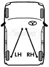VW EOS 1F Handbrake Cable Left or Right 06 to 15 Hand Brake Parking B/&B Quality