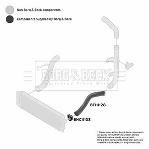 VW CRAFTER 2E 2.5D Turbo Hose Rear Lower, Left 06 to 13 Charger B&B 2E0145828