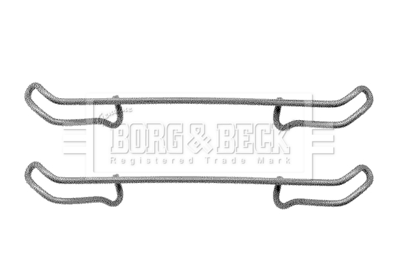 Ford Sierra 1.8 Genuine Borg /& Beck Rear Brake Pads Set