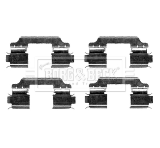 MERCEDES A180 W169 2.0D Brake Pad Fitting Kit Front 04 to 12 OM640.940 B/&B New