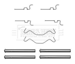Toyota Prius NHW20 1.5 Genuine Borg /& Beck Rear Brake Pads Set