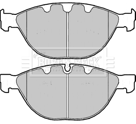 Brake-Pads-Set-fits-BMW-550-E60-4-8-Front-05-to-07-B-amp-B-34110300361-34112284065 thumbnail 2