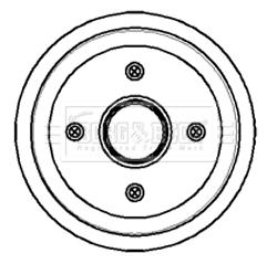 FORD FIESTA Mk4 1.8D Brake Drum Rear 95 to 02 180mm B/&B 1008098 1045392 1045654