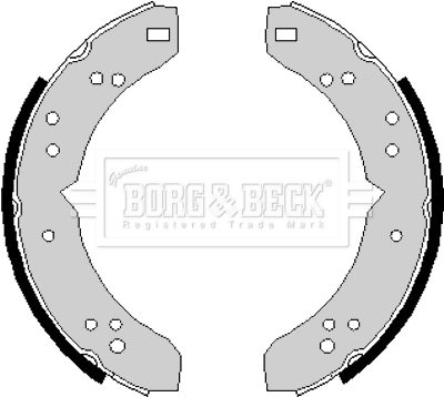 CLASSIC MINI FRONT BRAKE SHOES 64-84 WITH DRUM BRAKES GBS733 GBS733AF