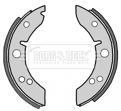 Rear Delphi Brake Shoes For Brake Drums Full Axle Set Morris Minor 1.1