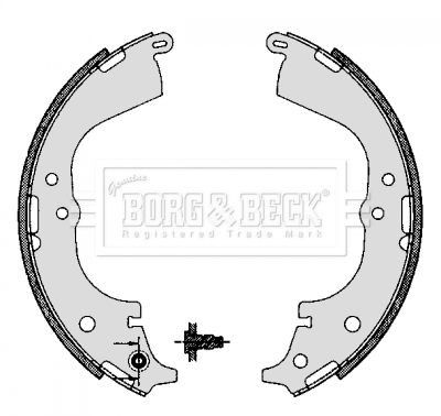 REAL IMAGE OF PART MINTEX REAR AXLE BRAKE SHOES SET FOR TOYOTA VW MFR454