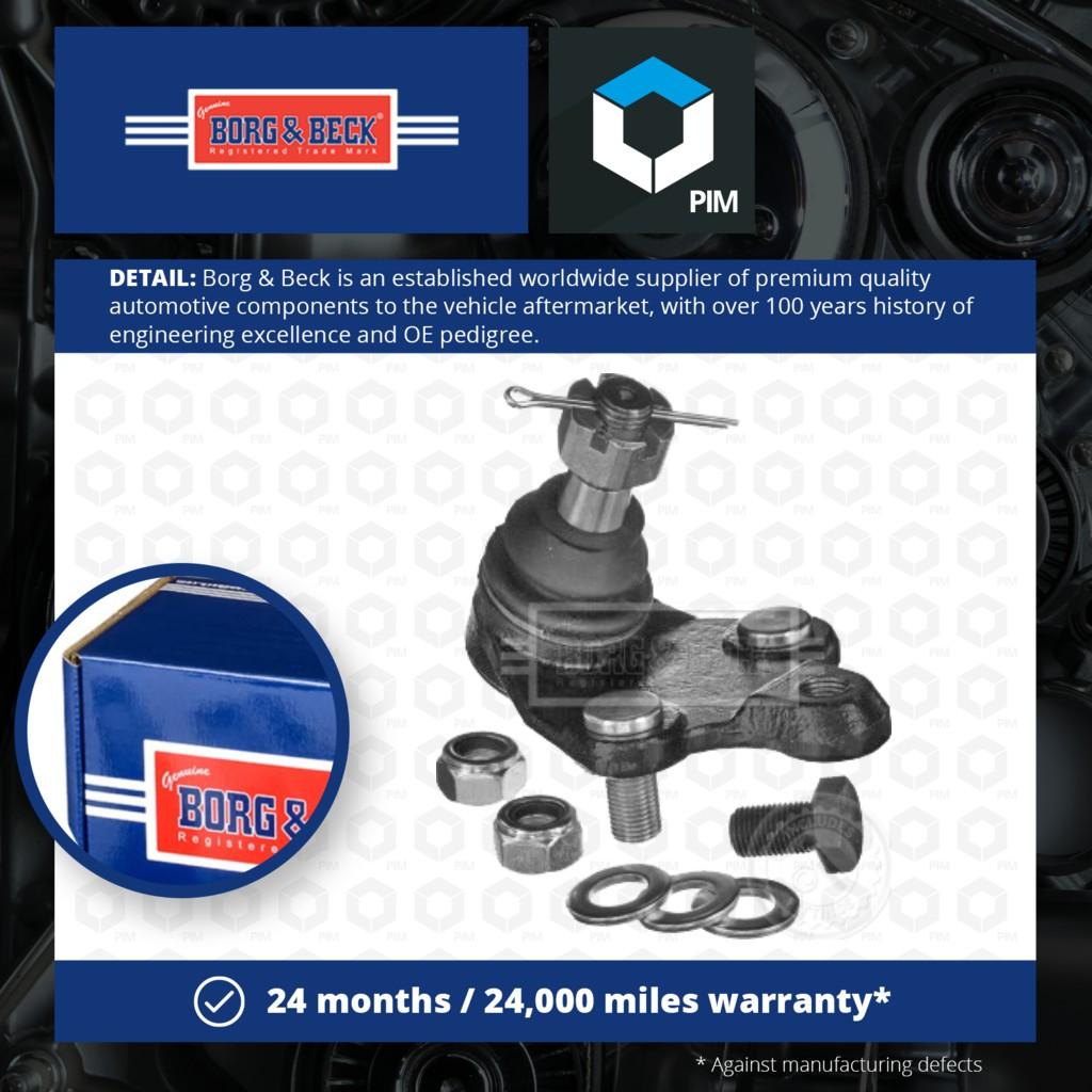 Replacement Parts Automotive BORG & BECK BTR5238 Ball Joints ...