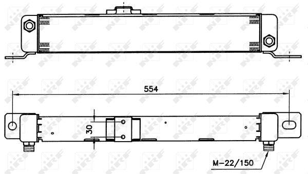 MERCEDES-208D-601-2-3D-Oil-Cooler-88-to-96-OM601-940-Radiator-NRF-A0021883001